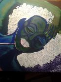 The Green Lady, acrylic, canvas, SOLD