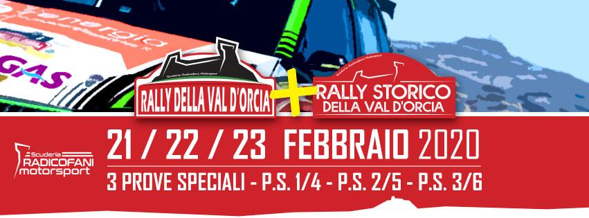 XI° RALLY DELLA VAL D'ORCIA 21 22 23 Febbraio 2020