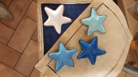 Stelline di ceramica artistica toscana dei colori del mare (diam.13cm)