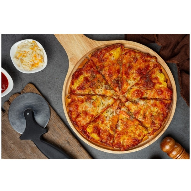 Receta de pizza con masa de harina de arroz - Mares Lingua - Recetas de cocina fáciles de hacer