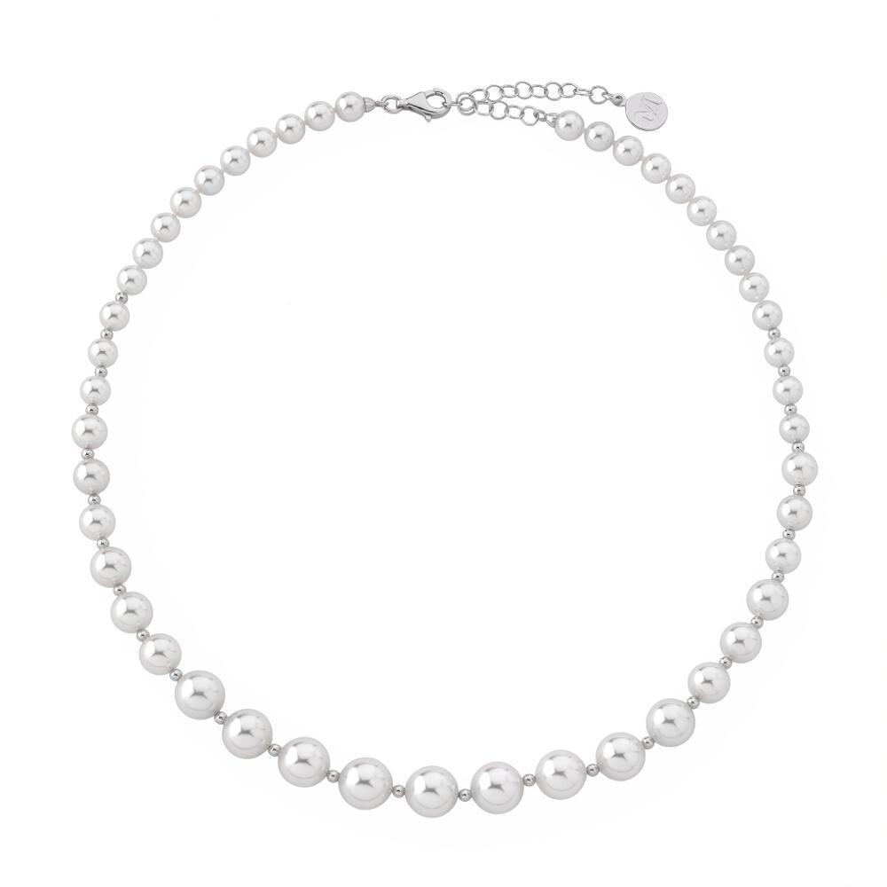 "Collar Majorica ""Estela"" 6/10mm – Plata de ley – 14710.01.2.000.010.1"