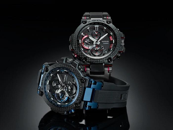 G-Shock MTG-B1000XBD y MTG-B1000XB con bisel de carbono