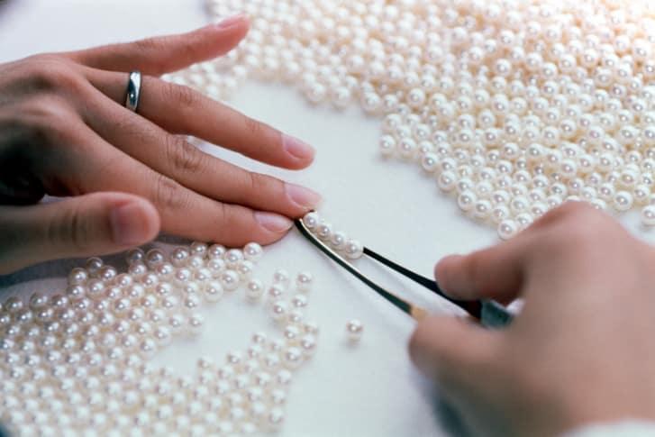 proceso de selección de perlas