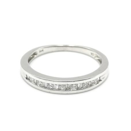 anillo oro blanco con diamantes an3499