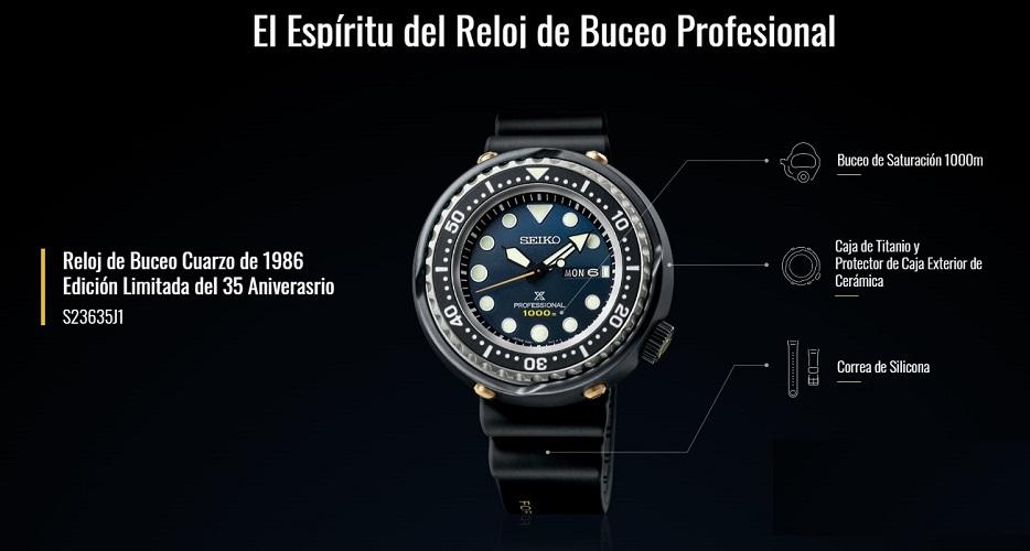 Seiko Prospex S23635J1, Edición Limitada 35 Aniversario del Seiko Prospex 1986 Quartz Diver's
