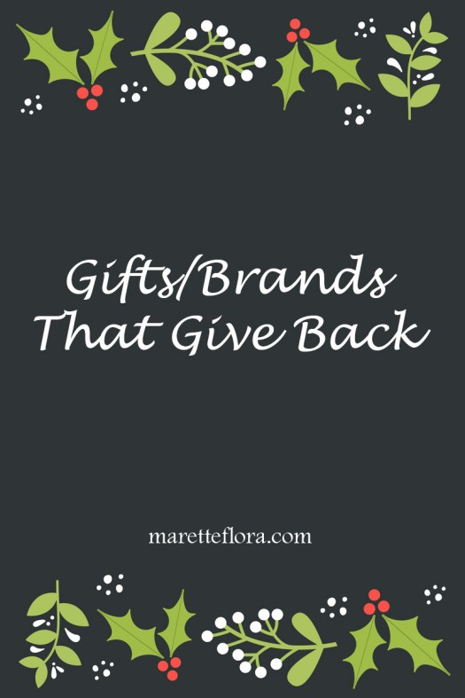 Holiday gifts that help others