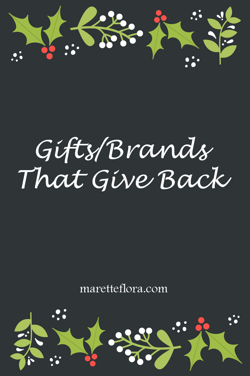 Companies that Give Back   Holiday Gift Ideas