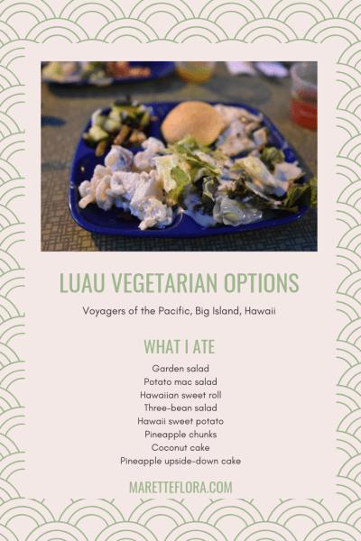 Vegetarian Options at Luau