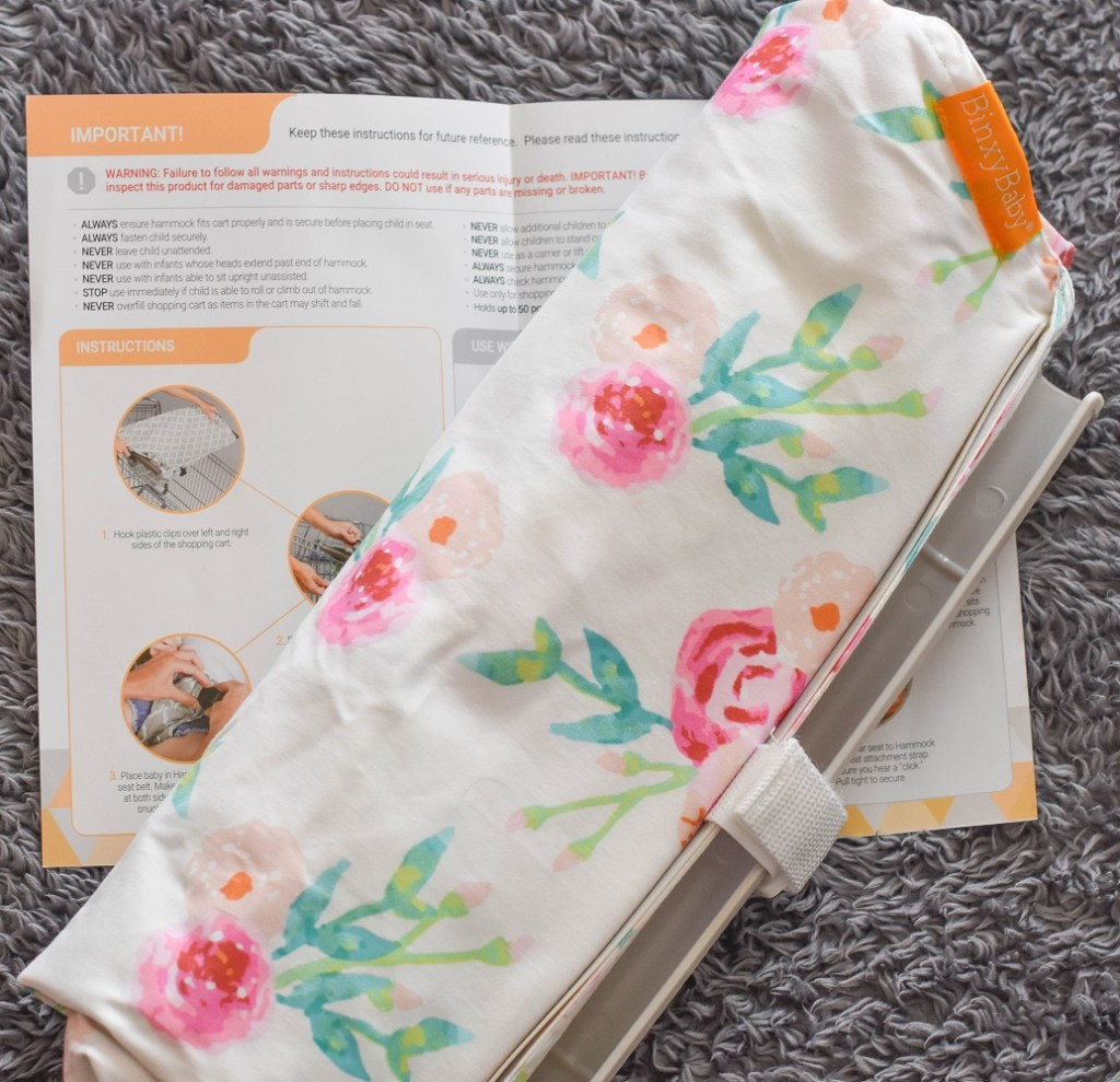 Binxy Baby flower print shopping cart hammock