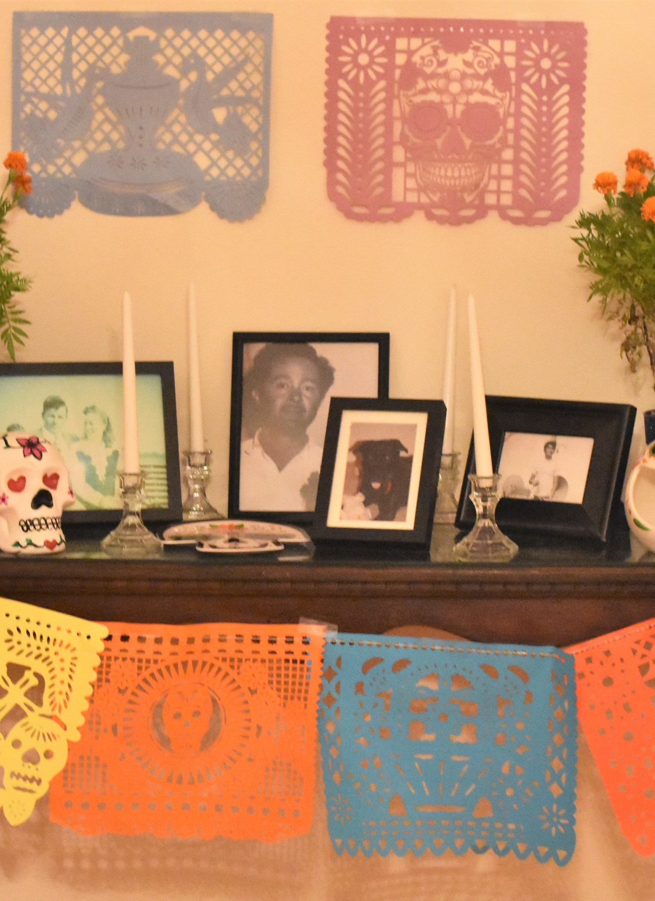 Dia De Los Muertos: Our Family's First Ofrenda + DIY Sugar Skull