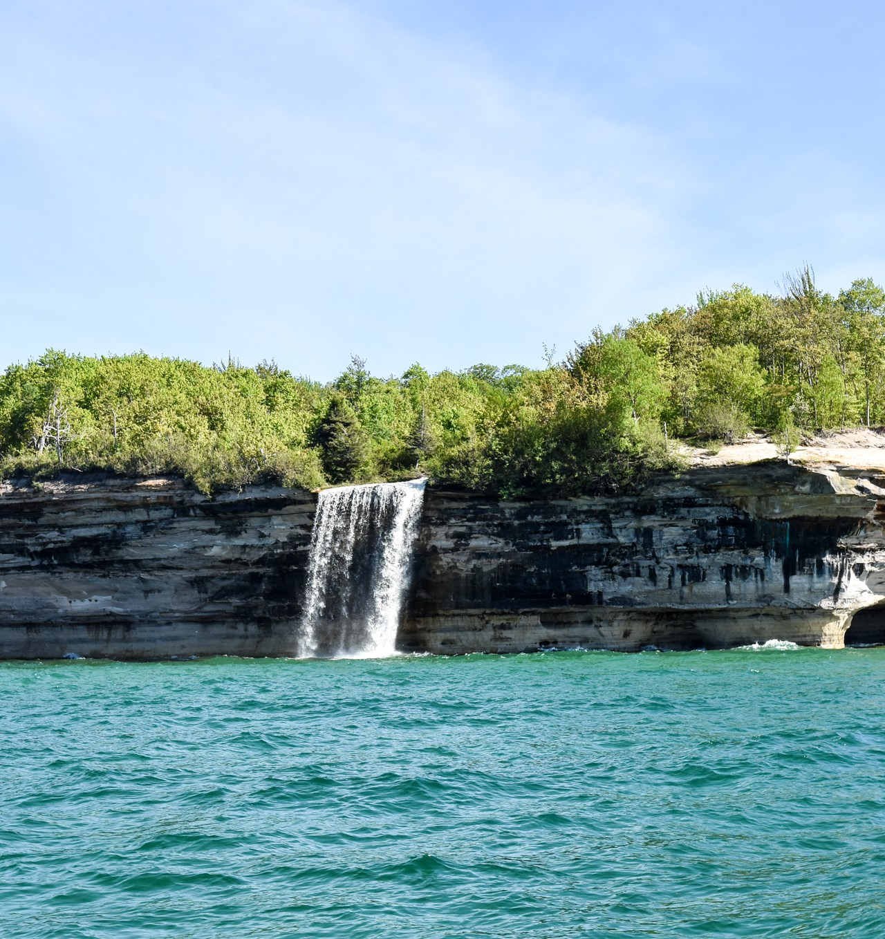 Pictured Rocks Cruise waterfall