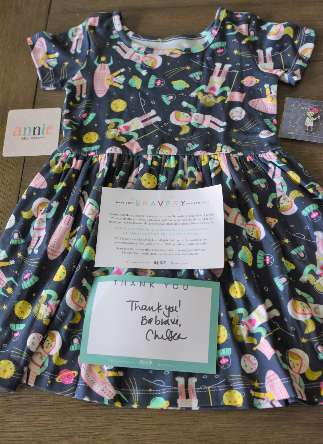 Annie the Brave STEM-Inspired Dress for Kids