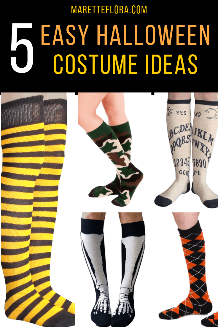 5 Easy Costume Ideas Paired With Fun Halloween Socks
