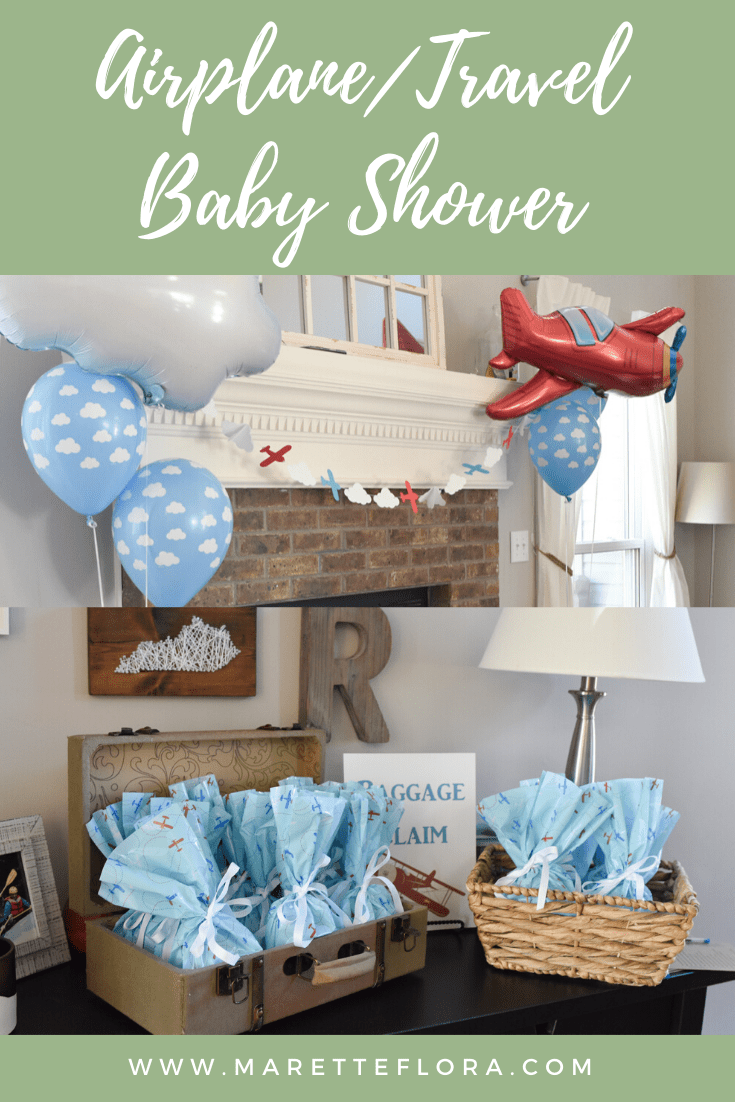 Adorable Aviation/Travel Theme Baby Shower