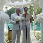Paul and Mareva Marciano at the wedding ceramony