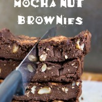 Silky mocha nut brownies