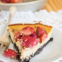 Strawberry lemon oreo cheesecake