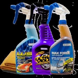 max force desengrasante base agua Ultra Violet protector para llantas y vinyl marflo