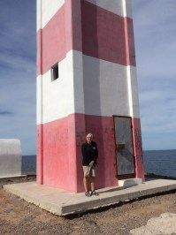 The lighthouse at Puerto Lobos