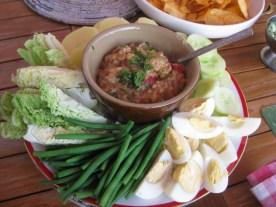 Gado gado: part of the Asian tapas-Smörgåsbord