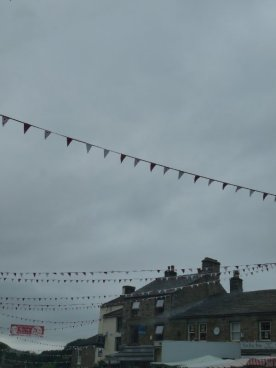Bunting in Hawes market.