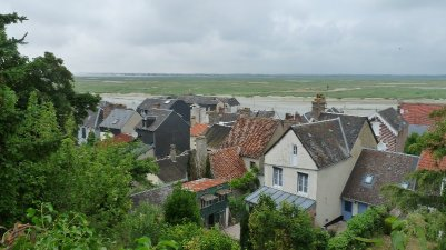 Looking down on the old town.