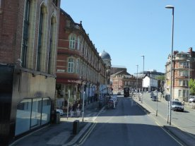 Arriving in Leeds city centre.