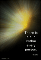 Spiritual Quote-There is a sun within every person. Rumi painting by margaret dill #wordsofwisdom #spiritualquotes #positivequotes #Rumi #margaretdill