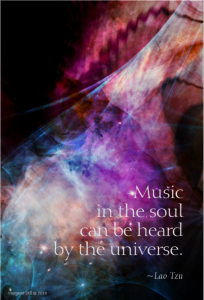 Music in the soul - Lao Tzu Quote- painting by margaret dill - #spiritualquotes #wordsofwisdom #Fractalart #Margaretdill #LaoTzuQuote
