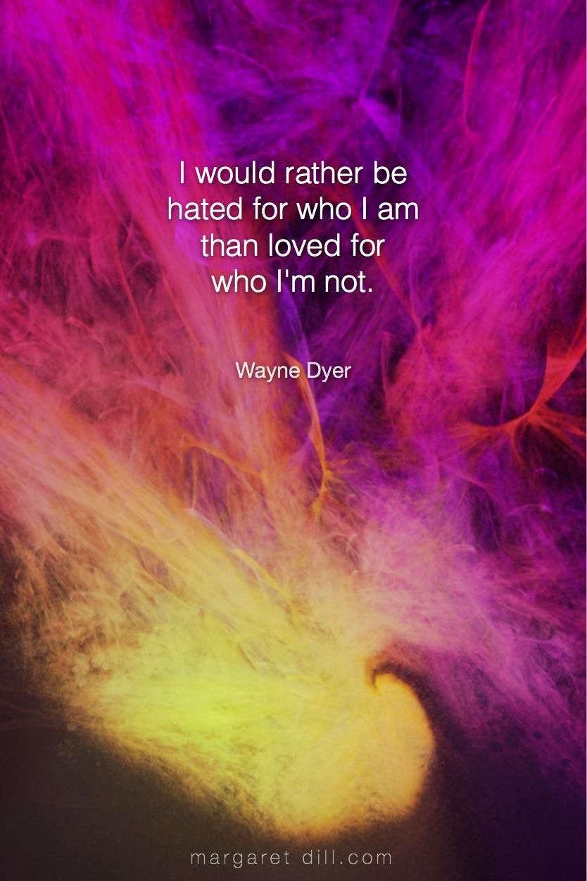 I would rather -Wayne Dyer  #Wisdom  #MotivationalQuote  #Inspirational Quote  #waynedyer  #LifeQuotes  #LeadershipQuotes #PositiveQuotes  #SuccessQuotes