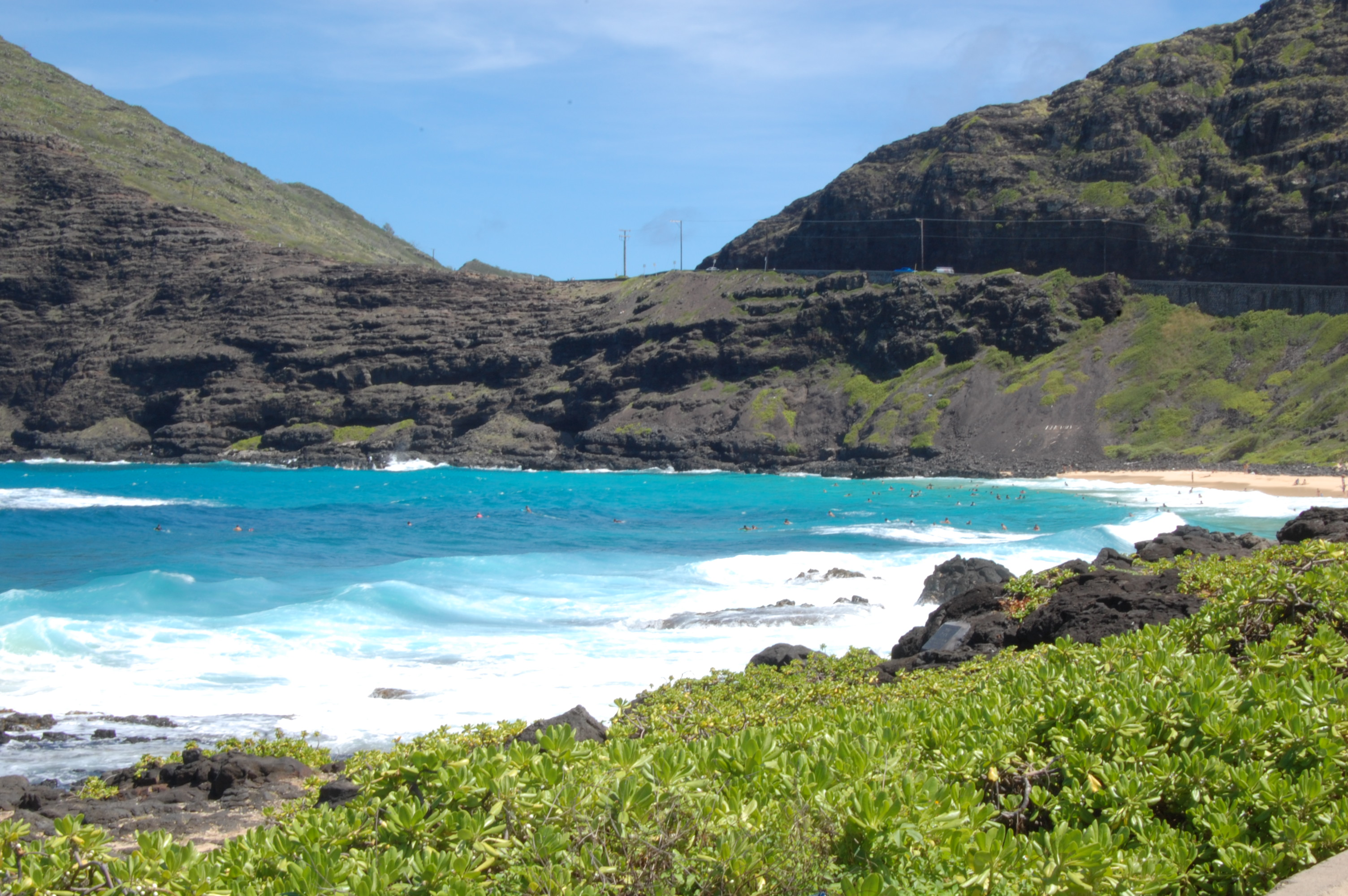 Makapuu from above.