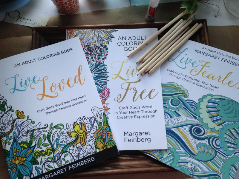 Live Loved, Live Free, Live Fearless: Adult Christian Coloring Book Combo Pack with Colored Pencils!!