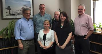 Ashley's PhD committee at her PhD defense.