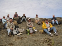 Group photo of lunch in Patagonia.