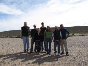 John, Erik, Margaret, Dylan, Kate, Ale, and Santiago in Patagonia.