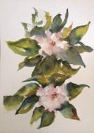 "Gardenias Watercolor $125 8x10"""