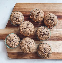 banana chocolate chip muffin recipe!