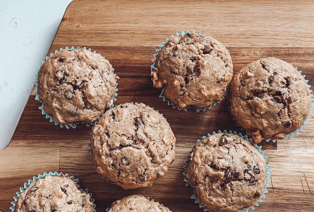Easy Banana Chocolate Chip Muffin Recipe!