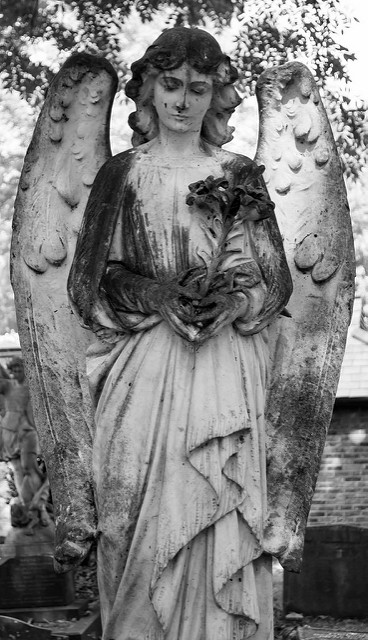 Highgate Cemetery East 4 (angel) by MrT HK