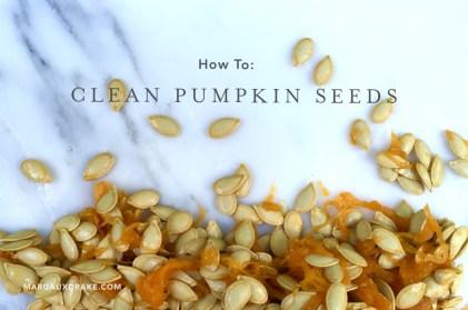 clean pumpkin seeds