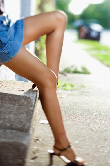 Legs of woman.