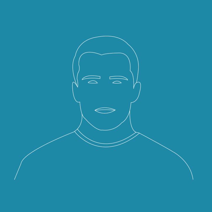 Portrait minimaliste masculin