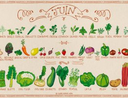 Juin, ses fruits et légumes
