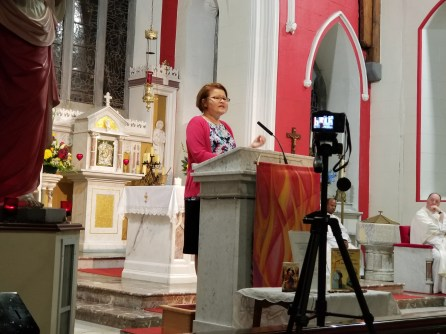 Marge Fenelon Speaker, St. Mary's Catholic Church, Headford, Ireland