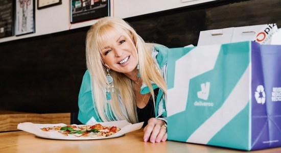 Margherita Delivers Rocco Pizza for Deliveroo