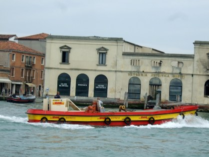 DHL Express making deliveries in Venice