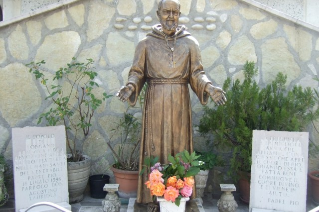 Outdoor shrine to Augustine in Colle d'Anchise Photo by Margie Miklas