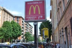 McDonald's sign in Trastevere
