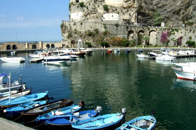Harbor in Maiori on the Amalfi Coast