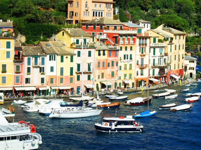 Portofino harbor view
